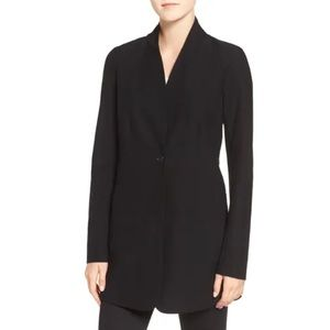 EILEEN FISHER Stretch Crepe Stand Collar Jacket XS